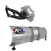 Kfi 66 Snow Plow With Push Tubes And Mount For 2010-2018 Can-am Commander 1000