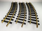 3 Pieces Aristocraft Trains G Scale Brass Curved Track 14 Black Railroad Ties