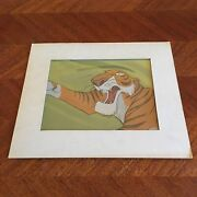 Disney The Jungle Book Shere Khan Production Animation Cel 1967 Action Tiger
