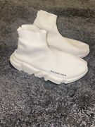 Authentic Used White Balenciaga Track Shoes Size 38 Worn Handful Of Times