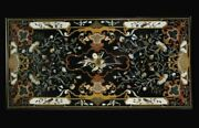 5and039x2.5and039 Marble Center Table Top Pietra Dura Handcrafted Inlay Work Home Decor