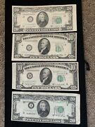 4 Pc Lot 1950 Major Cutting Errors 10 And 20 Frn