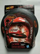 New Nerf Firevision 10 Sports Flyer Disc W/red Frame Glasses Fire Vision