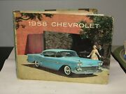 Original 1958 Chevrolet Dealer Showroom Book With Samples And Pictures