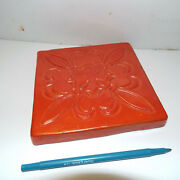 Square Orange Trivet Hunn .40 From 50and039s California Pottery