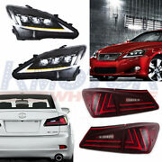 Full Led Headlight And Tail Light Smoked Fit For 2006-2012 Lexus Is F Is250 Is350