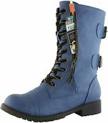 Dailyshoes Womenand039s Ankle Bootie High Lace Up Military Combat Mid Calf Credit Car