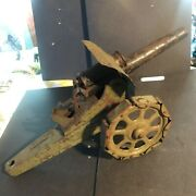 Vintage Very Large Tin Plate Toy Cannon, C1920's