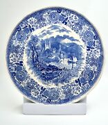 Vintage Blue And White Villeroy And Boch Fine China W/ Fantastic Castle Scene Plate