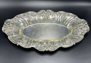 Reed And Barton Antique Sterling Silver Francis I X568 Bread Tray Dish 447 Grams