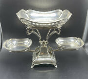 Atkins Bros Antique English Sterling Silver 3 Dish Epergne Centerpiece 38 Toz