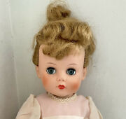 Vintage 1950and039s Lovlee Dolly Vinyl Doll Abc Toys Rooted Hair