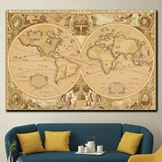 World Map Of Ancient Times Antique And Vintage World Maps Canvas Art Print For W