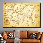 Ancient World Map For Marine Navigation Antique And Vintage World Maps Canvas Ar