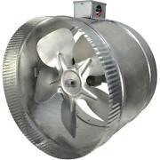 Suncourt Inductor Inline Duct Fan 10in 2speed Electrical Box Air Booster Exhaust