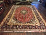 S.antique Genuine Hand Knotted Vintage Classic Area Rug Traditional 8x12,150