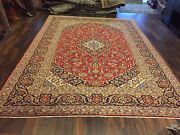 S.antique Genuine Hand Knotted Vintage Classic Area Rug Traditional 8'2x11'4,155