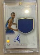 Autograph Card Used Luxury Version Of National Treasure Curry Players Of Panini