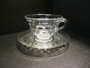 Fostoria American Clear Cup And Saucer Set Or Saucer