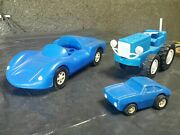 Vintage Tractor Car Sports Car 70and039s Original Toy Items Plastic Mir Bulgaria
