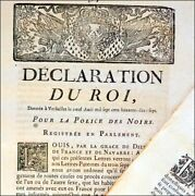Declaration Roi Police Noirs 1777 Louis Xvi French Black Slave Rare Colonial Law