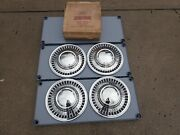1960-61 Ford Galaxie Wheel Covers Set Of Four 14andrdquo Nos C1az-1130-a