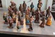 Authentic Syroco Wood Collection Of 25 Figures.  Free Shipping