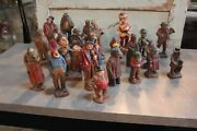 Authentic Collection Of 25 Original Syroco Wood Figures. Free Shipping