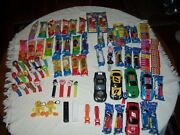 A18- Approx. 71 Vintage-pez Candy Dispensers-new And Opened Includes 5 No Feet