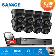 Sannce 1080p Hdmi 8ch Cctv 5in1 Dvr 2mp Hd Outdoor Ir Security Camera System 1tb