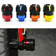 Cnc Pair Front Axle Fork Anti Crash Sliders Wheel Protection Universal Motocycle