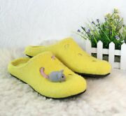Funny Yellow Slippers Like Cheese And Mouse Best Boiled Wool Slippers | Ecofoot