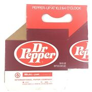Dr Pepper Carrier 6 Pack Cardboard Carton Pepper-up At 10,2and4 O'clock