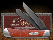 Case Xx Painted Pony Damascus Red Matrix Stone Trapper 1/200 Pocket Knives Knife