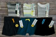 Cat And Jack Baby Boys 12 M Knit Pull On Shorts And T-shirt Tee Lot Of 6