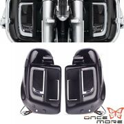 Led Lower Fairing Grill Solid Plates Cover Glove Box For Harley Touring 2014-up