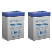 Power-sonic 6v 4.5ah Battery Replaces Power Wizard Pw50s Electric Fence - 2 Pack