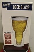 Signature Series Upside Down Beer Glass Bottle Design Double Wall Insulated.