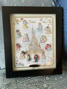 Hkdl Castle Of Magical Dreams Princess Series Le150 Pin Set With Display Frame
