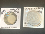 2pc1893 Worlds Fair Aluminum Medal So Called Dollar 174/ And Watch Case Opener