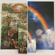 Lot Of 2 Vintage Springbok 500 Pc Jigsaw Puzzles Plants And Rainbow 100 Complete