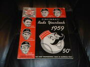 1959 Cincinnati Reds Official Baseball Yearbook Opening Game Edition