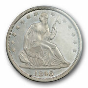 1846 O 50c Seated Liberty Half Dollar Pcgs Au 58 About Uncirculated Cac Wow