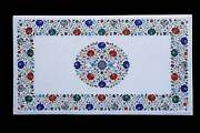 4and039x2and039 Marble Dining Table Top Marquetry Semi Precious Inlay Antique Decorative