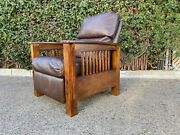 Mission Style Oak Recliner Chair Arts And Craft