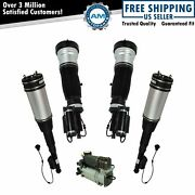 Air Ride Compressor W/ Front And Rear Air Shock Set For Mb S430 S500 New