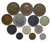 Portugal Lot X 13 Dates 1883-1999 Inc Silver 2.5 Escudos 1947 Early Coppers++