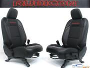 Jeep Wrangler 4dr Jl Rubicon Black Leather Red Embroidery New Seats 2018 2021