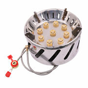 9 Holes Portable Camping Stove Cooking Bur-ner For Outdoor Hiking Picnic F0h9
