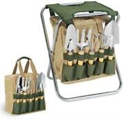 Oniva - A Picnic Time Brand Gardener 5-piece Garden Tool Set With Tote And